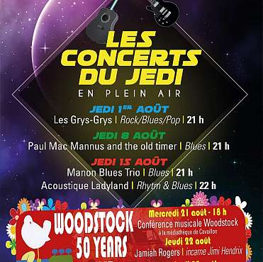 Collectif Back to Woodstock / Les concerts du Jedi